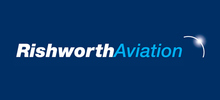 Rishworth Aviation's logo takes you to their list of jobs